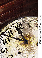 fesso, vecchio, orologio, dettaglio