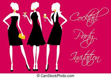 festa, cocktail, invito