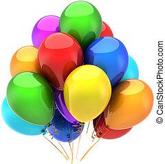 festa, compleanno, palloni, felice