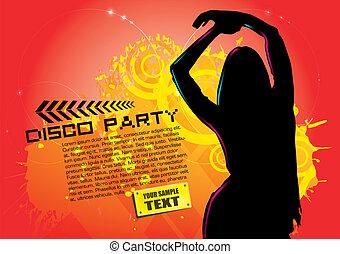 festa, donna, fondo