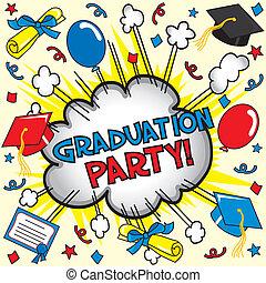 festa, graduazione, scheda