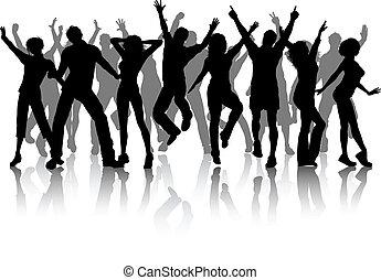 festa, gruppo, persone