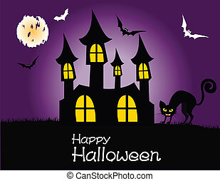 festa, halloween, felice