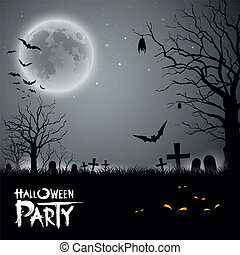 festa, halloween, fondo, pauroso