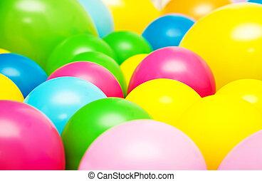 festa, luminoso, palloni, multicolor