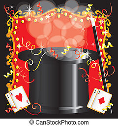 festa, magician's, magia, compleanno, atto