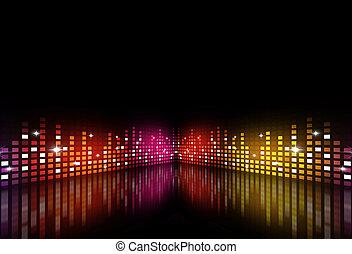 festa, multicolor, musica, equalizzatore