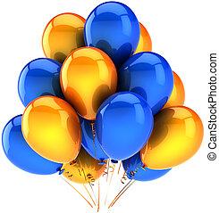 festa, multicolor, palloni