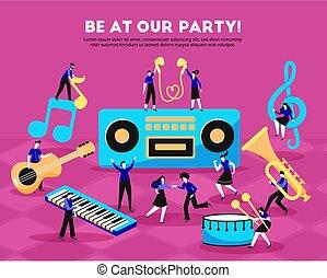 festa, musica, persone fondo
