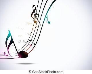 festa, note, musica, fondo