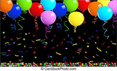 festa, palloni, fondo