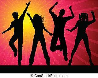 festa, persone, ballo