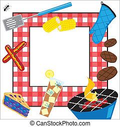 festa, picnic, estate, invito