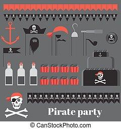 festa, pirata, idee