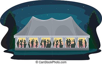 festa, tenda, ricezione, matrimonio