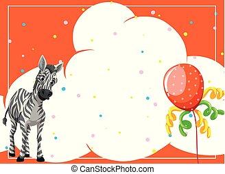 festa, zebra, fondo