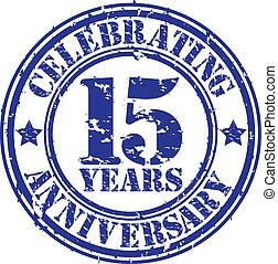 festeggiare, anni, 15, gr, anniversario