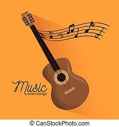 festival, chitarra, strumento musica, manifesto