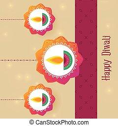 festival, diwali, augurio, fondo, creativo