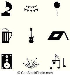 festival, set, icona