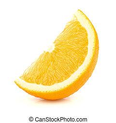 fetta arancia, succoso, uno