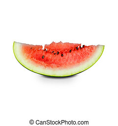 fetta, succoso, isolato, fondo., bianco, watermelon.