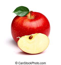 fetta, succoso, mela