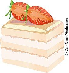 fetta, terroso, torta, berries.