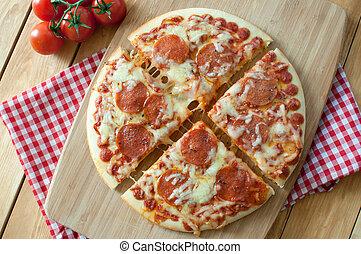 fette, pizza pepperoni
