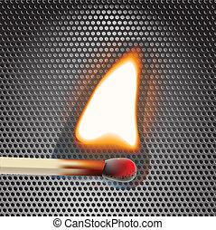 fiammifero, flamming