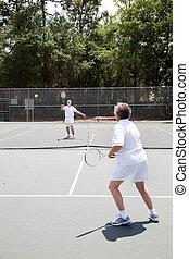 fiammifero, tennis, anziano