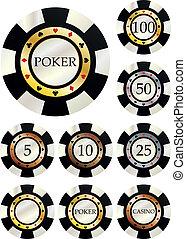 fiches, poker