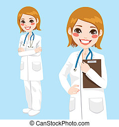 fiducioso, dottore donna
