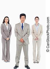 fiducioso, vendite, dall'aspetto, squadra