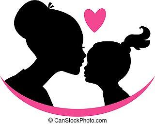 figlia, amore, mamma