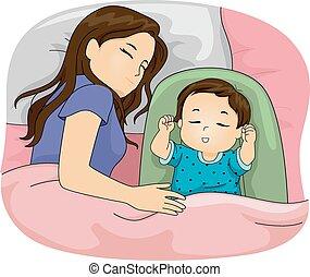 figlia, mamma, in pausa