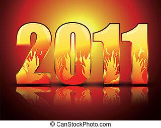 figure, anno nuovo, fondo, stilizzato