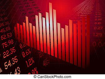 figure finanziarie, rosso, grafico