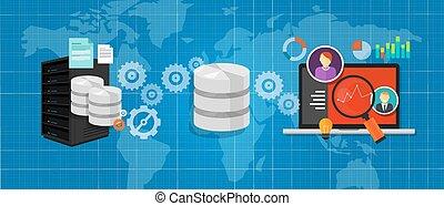 file, database, media, grafico, analisi, integrazione, collegare, dati