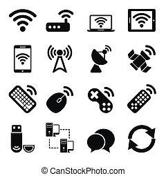 fili, set, congegni, icone