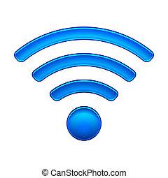 fili, simbolo, wifi, rete, icona