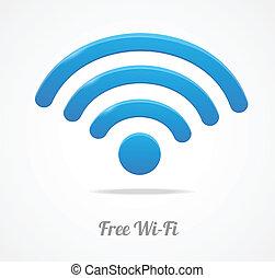fili, wifi, rete, simbolo., icona