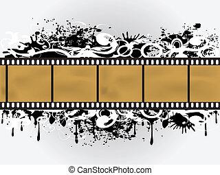 film, grunge, bordo, floreale