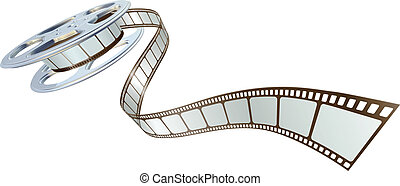 film, spooling, bobina, film, fuori
