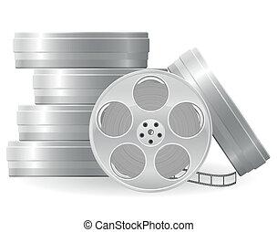 film, vettore, bobina, illustrazione
