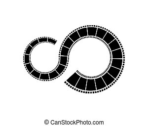 filmstrip, sagoma, logotipo