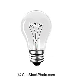 filo, parola, luce, rendering., forma., bulbo, speranza, 3d