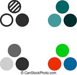 filtro, colore, icone