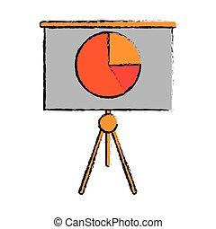 finanza, affari, grafico, asse, presentazione, disegno