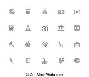 //, finanza, affari, &, serie, icone, 32px, bianco